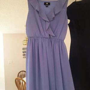 IZ byer periwinkle skater dress